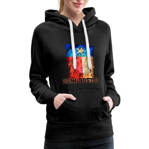 New Boston Texas Flag 2 - Women's Premium Hoodie