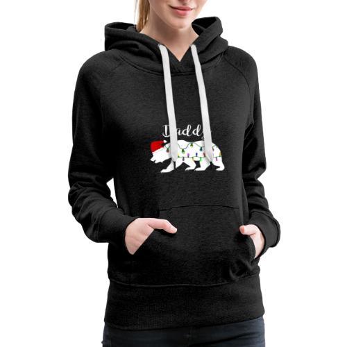 Mens Daddy Bear tshirt Christmas Matching Santa Ha - Women's Premium Hoodie