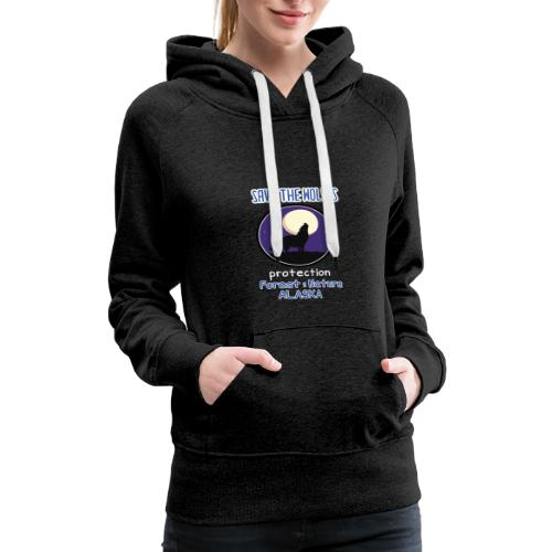 SAVE THE WOLVES - Women's Premium Hoodie