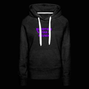 Shooting Star Review Purple Logo - Women's Premium Hoodie