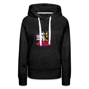 Allie, First at Last - Secret Cat with Trophy - Women's Premium Hoodie