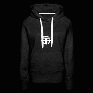 Black and white Official Text Hoodie/T Shirt - Women's Premium Hoodie