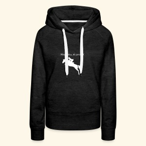 Nevertheless, she persisted (Jumper White) - Women's Premium Hoodie