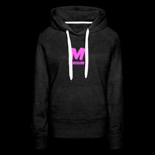 MercilessApparel pink logo - Women's Premium Hoodie