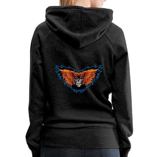 Winged Skull Illustration - Women's Premium Hoodie