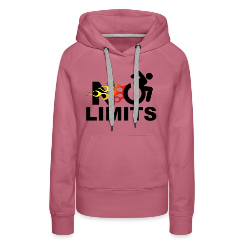 No limits for me with my wheelchair - Women's Premium Hoodie