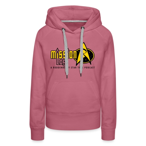 Logo Wide 2 Color Black Text - Women's Premium Hoodie