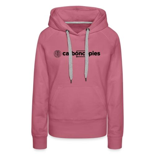 Carboncopies Graphic + Text Logo (black printing) - Women's Premium Hoodie