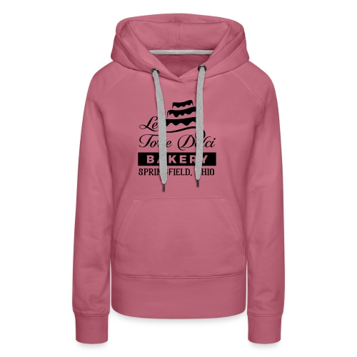Le Torte Dolci Logo Solid Black Ink Version - Women's Premium Hoodie