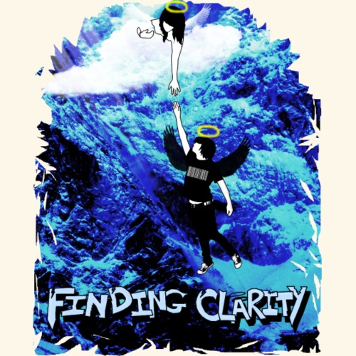 Cursive Black and White Hoodie - Women's Longer Length Fitted Tank