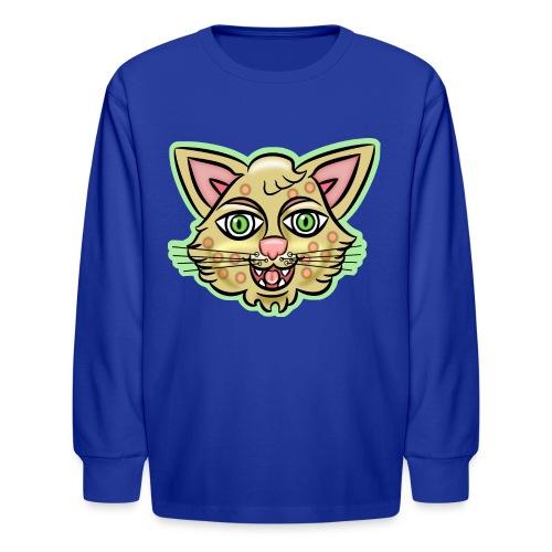 Happy Cat Gold - Kids' Long Sleeve T-Shirt