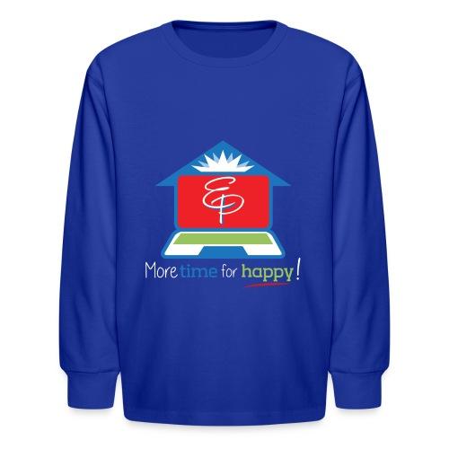 EZPZ Logo Tagline - Kids' Long Sleeve T-Shirt
