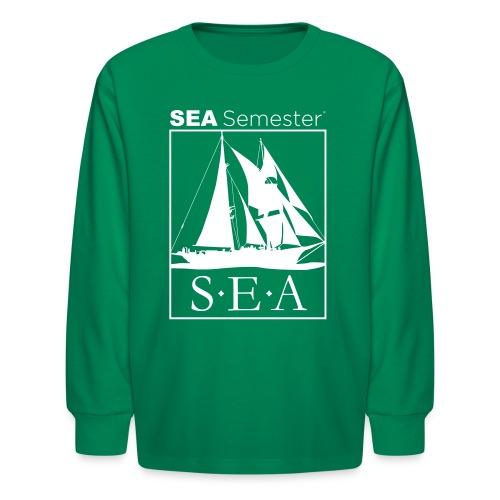 SEA_logo_WHITE_eps - Kids' Long Sleeve T-Shirt