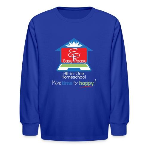 EZPZ Logo All-in-One Homeschool and Tagline - Kids' Long Sleeve T-Shirt
