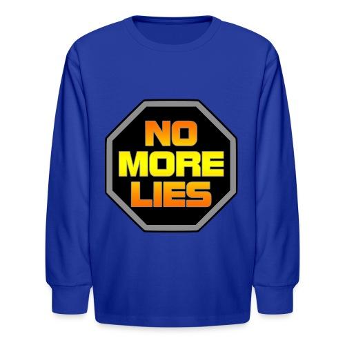 stopp no more lies - Kids' Long Sleeve T-Shirt