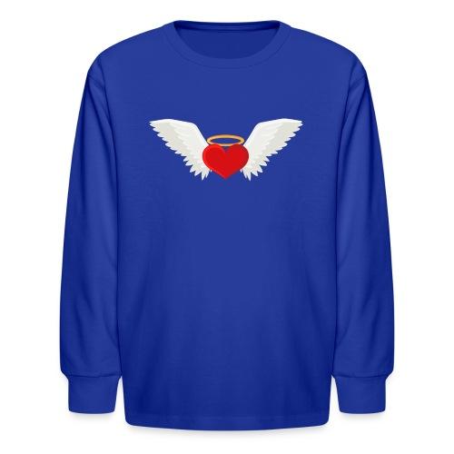 Winged heart - Angel wings - Guardian Angel - Kids' Long Sleeve T-Shirt