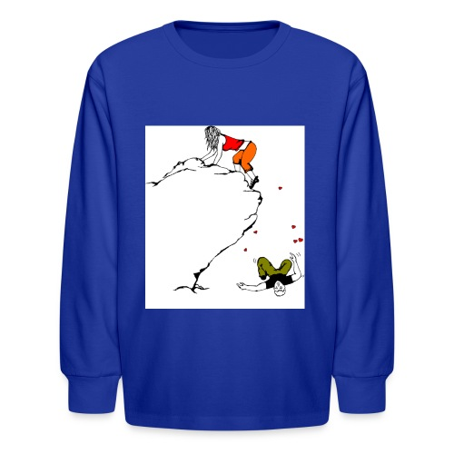 Lady Climber - Kids' Long Sleeve T-Shirt