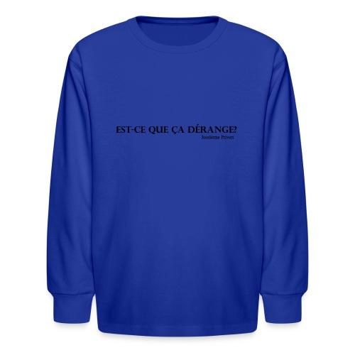 Jocelerme Privert - Kids' Long Sleeve T-Shirt