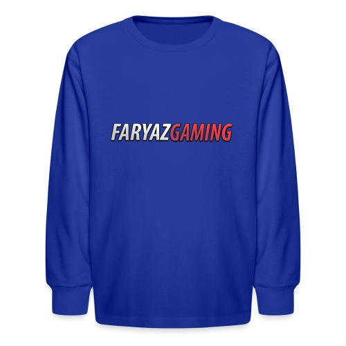 FaryazGaming Text - Kids' Long Sleeve T-Shirt