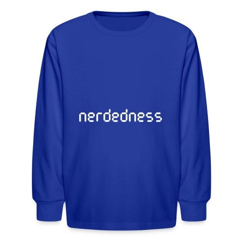 nerdedness segment text logo - Kids' Long Sleeve T-Shirt