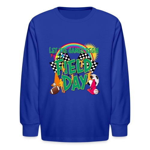 Field Day Games for SCHOOL - Kids' Long Sleeve T-Shirt