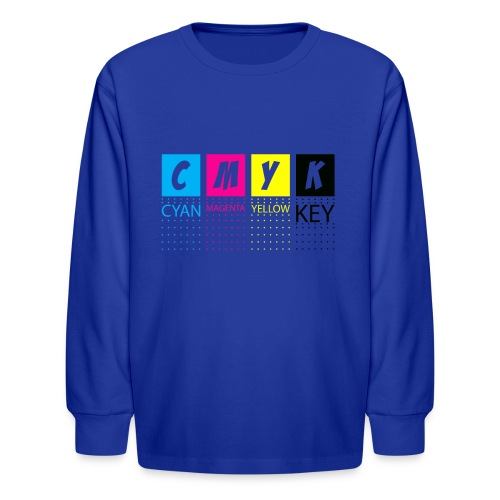 CMYK T SHIRTS - Kids' Long Sleeve T-Shirt