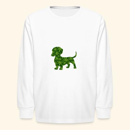 PUFFY DOG - PRESENT FOR SMOKING DOGLOVER - Kids' Long Sleeve T-Shirt