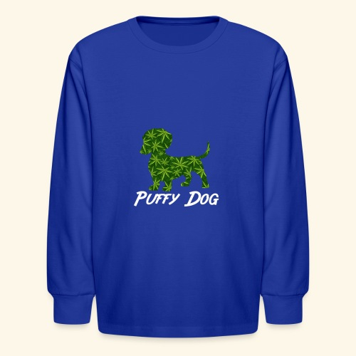 PUFFY DOG - PRESENT FOR SMOKING DOGLOVER - Kids' Long Sleeve T-Shirt