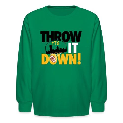 Throw it Down! (Turnover Dunk) - Kids' Long Sleeve T-Shirt