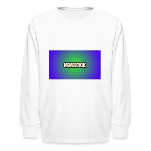 memestick symbol - Kids' Long Sleeve T-Shirt