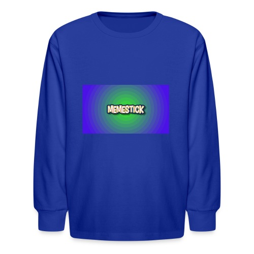 memestick symbol - Kids' Long Sleeve T-Shirt