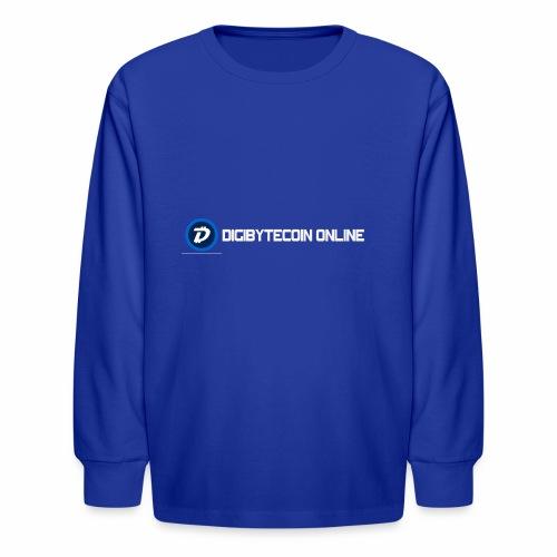 Digibyte online light - Kids' Long Sleeve T-Shirt