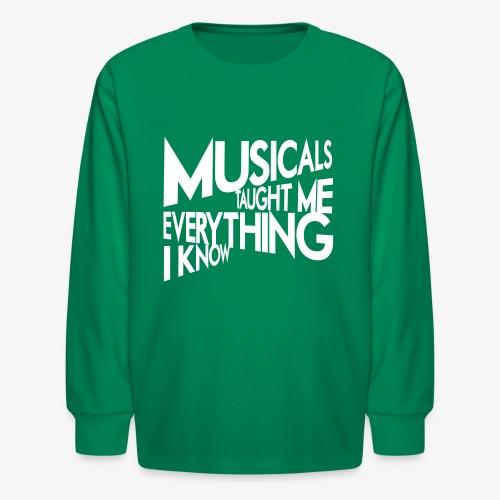 MTMEIK White Logo - Kids' Long Sleeve T-Shirt