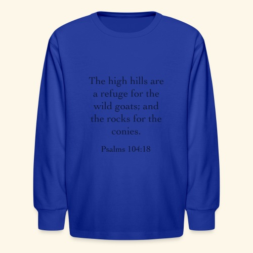 High Hills KJV - Kids' Long Sleeve T-Shirt