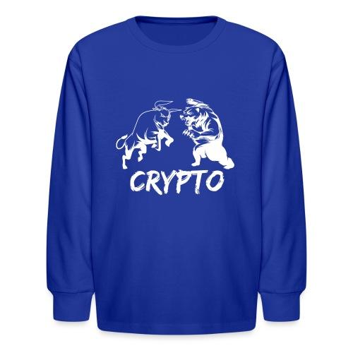 CryptoBattle White - Kids' Long Sleeve T-Shirt