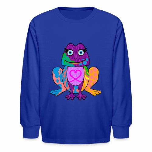 I heart froggy - Kids' Long Sleeve T-Shirt