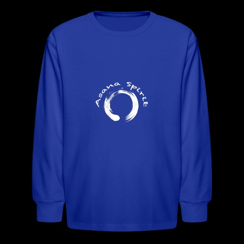 Enso Ring - Asana Spirit - Kids' Long Sleeve T-Shirt