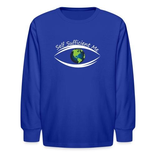 Self Sufficient Me Logo Large - Kids' Long Sleeve T-Shirt