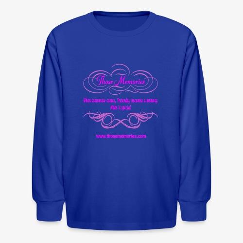 Those Memories logo - Kids' Long Sleeve T-Shirt