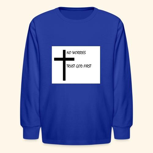 No Worries - Kids' Long Sleeve T-Shirt
