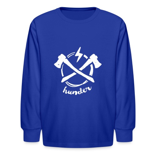 woodchipper back - Kids' Long Sleeve T-Shirt