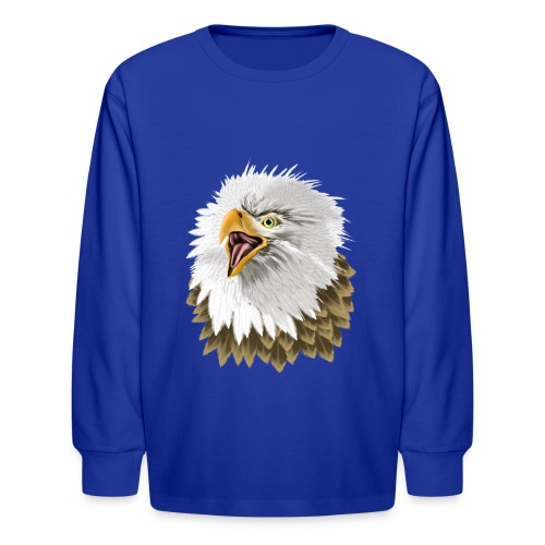 Big, Bold Eagle - Kids' Long Sleeve T-Shirt