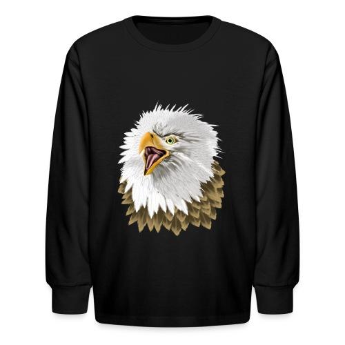 Big, Bold Eagle - Kids' Long Sleeve T-Shirt