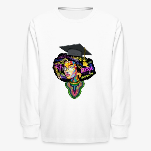 Smart Black Woman - Kids' Long Sleeve T-Shirt