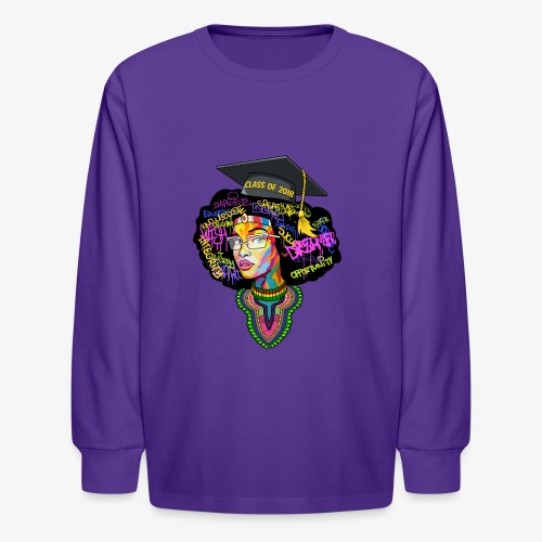 Smart Graduation Woman - Kids' Long Sleeve T-Shirt