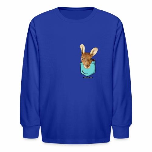 Kangaroo in a Pocket - Kids' Long Sleeve T-Shirt