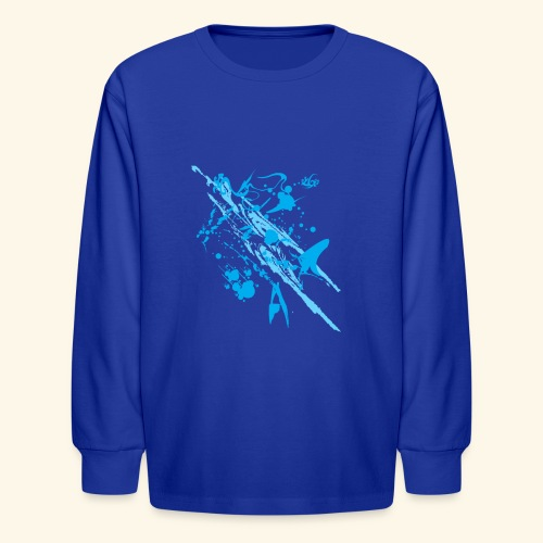 Blue Splash - Kids' Long Sleeve T-Shirt