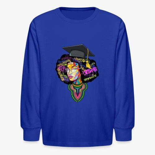 Black Educated Queen School - Kids' Long Sleeve T-Shirt