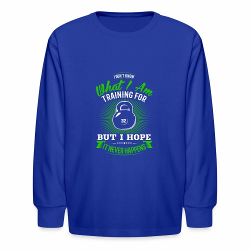 Workout Training - Kids' Long Sleeve T-Shirt