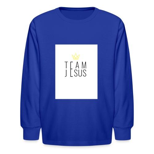 TEAM JESUS3 - Kids' Long Sleeve T-Shirt